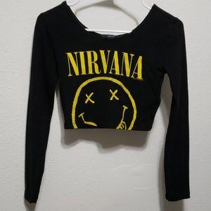 NEVER WORN Nirvana crop top